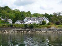 Head Chef & Chef de Partie for lochside hotel Argyll - live in