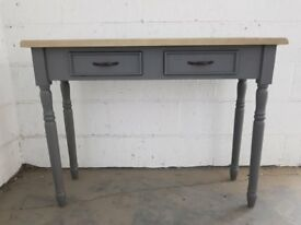 Ex Showroom Oak/Grey Console/Hallway Table RRP £399