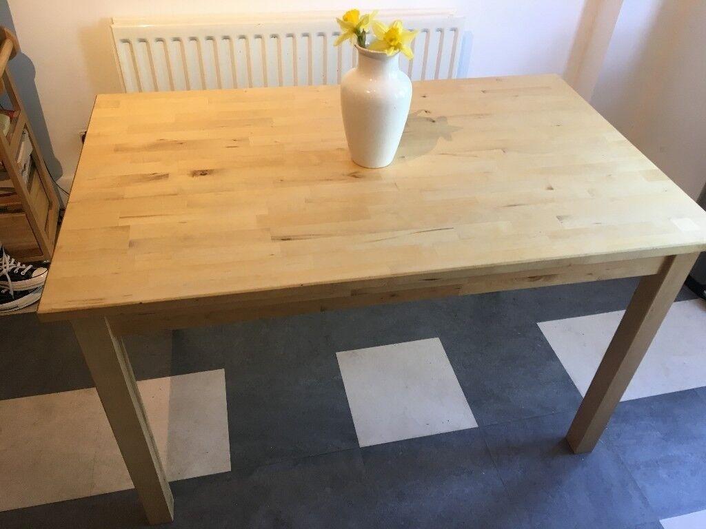 Ikea Bjorkudden Kitchen Dining Table 4 Nordmyra White Birch Chairs
