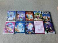 9 Dance/Tinkerbell DVDs plus 1 Tinkerbell Blu Ray