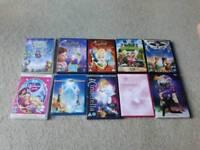 9 Dance/Disney Tinkerbell DVDs plus 1 Tinkerbell Blu Ray
