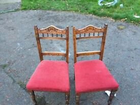 2 edwardian chairs for sale