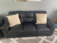3 seater two seater cuddle chair and foot stool