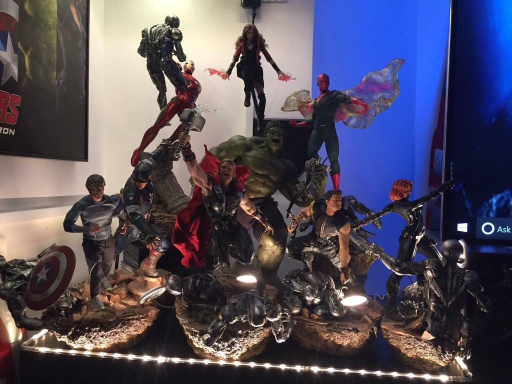 Avengers 1 6 Diorama Iron Studios Hot Toys Sideshow In