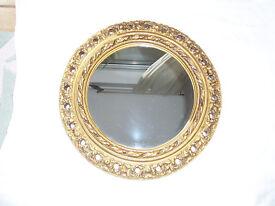 Round Gilt Mirror