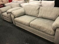 NEW - EX DISPLAY JOHN LEWIS GREY 3 + 1 SEATER SOFA - SOFAS 70% Off RRP SALE