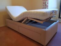 Divan single electric bed