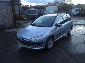 2004 54 Peugeot 206 1.4 sw Estate Petrol Manual Full Mot Cheap To Run Tax And Insure