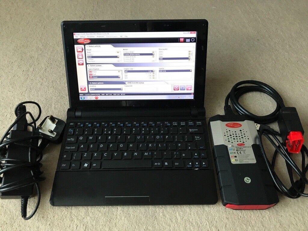 """Dealer car diagnostic kit 10.1"""" Netbook 15.3 Delphi,"""