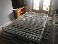 Small Double White Bed Frame