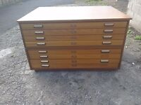 Solid wood Architect drawers