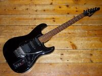 Casio MG510 midi guitar synthesiser controller upgraded EMG active pickups, Floyd Rose and Sperzels