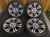 20'' GENUINE BMW X5 M 333 ALLOY WHEELS TYRES ALLOYS SPORT E70 E71 F15 X6