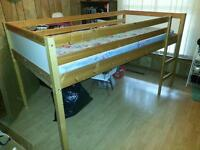 solid pine kids play bed