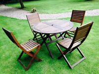 Garden table with 4 chairs for sale