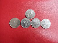 London Olympics 2012 50p coins (Athletics, Equestrian, Gymnastics, Hockey, Sailing)
