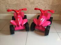 Pink girls electric quad