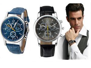 Hommes montre mode de luxe faux cuir de crocodile quartz analog montres bracelet for Bracelet cuir homme luxe