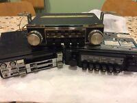 3 x Vintage car radios