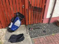 Macgregor Golf Clubs. Full Set Of Irons. Driver, 7 Wood, Putter & Bag. Lovely Condition