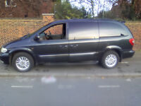 2002 02 CHRYSLER GRAND VOYAGER LIMITED 3.3 PETROL AUTO GREY 133K MILES 7 SEATS ELECTRIC DOORS LOADED