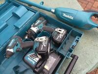 Makita 18v lithium 3ah set. Faulty drill