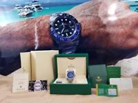 Rolex DateJust Silver Blue Face - Complete Set Box And Papers 1 Year Free Warranty