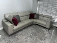 Offers Welcome - Grey Leather Sofa & Armchair