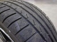 excellent 195/45/16 set of 4 tyres all with chrome and black 4 stud alloys with DELIVERY AVAILABLE