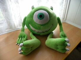 "Disney Extra Large Soft Plush Mike from Monster Inc 19"" Tall - VGC"