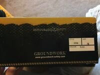 Size 9, BRAND NEW, groundwork safety boots