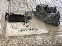 Tiba and Marl leopard print RAF WEEKENDER BAG