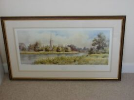 Picture Limited Edition Salisbury Cathedral by Clive Pryke