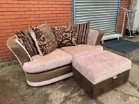 DFS Sofa & foot stool delivery 🚚 sofa suite couch furniture