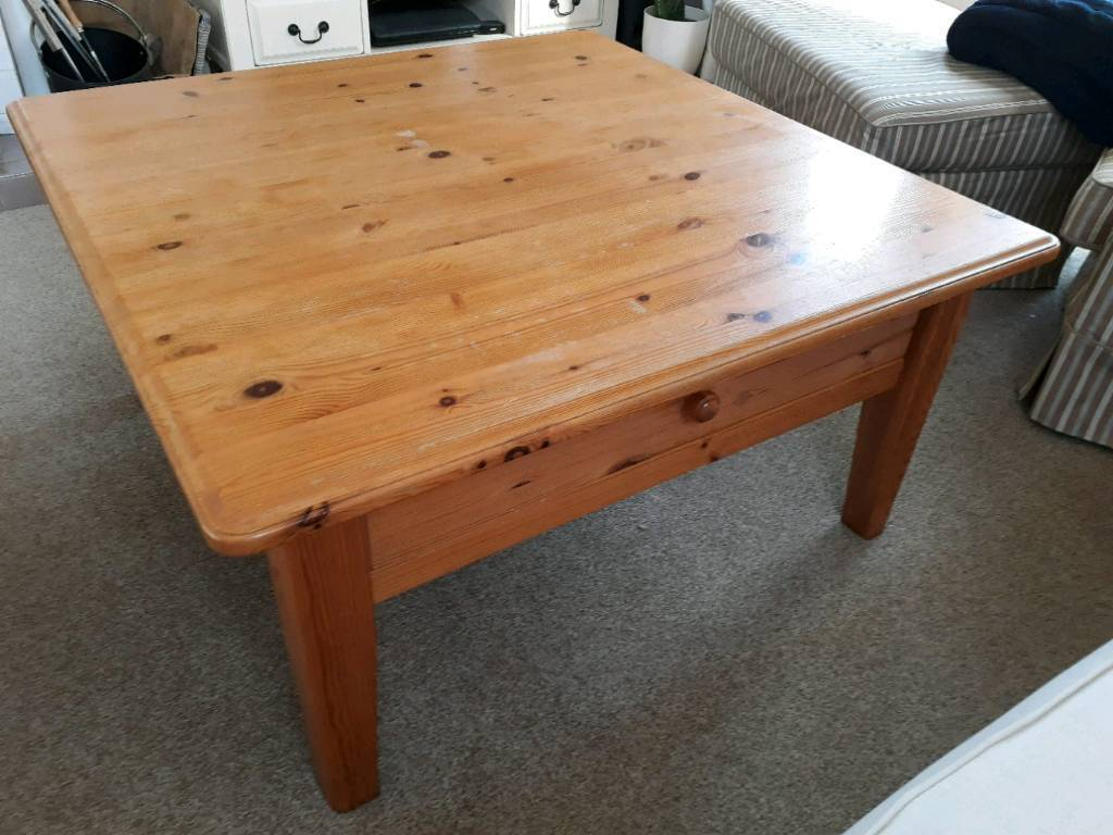 Massive Wooden Coffee Table