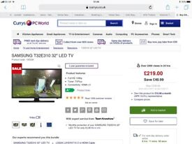 Samsung 32 LED TV - 8 months old