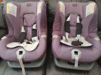 Pair of Britax First Class Plus car seats