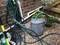 Large Vintage Metal Watering Can