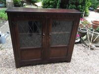 Old Charm Top Quality Display Cabinet Solid Oak - Excellent Condition