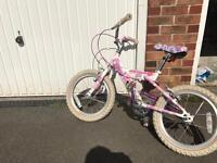 Girls bike age 5 plus