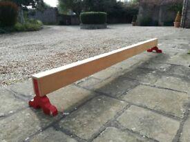 Gymnastics practise balance beam 3m / 10ft