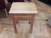 Solid Oak lamp table