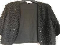 Size 12 black Per Una party shrug