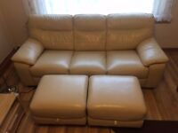 3 seater real leather sofa in very good condition