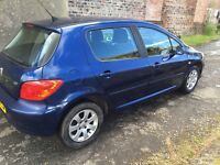 PEUGEOT 307 2005 5DR FULL YEAR MOT GOOD CONDITION,