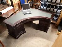 Solid Wooden Corner Office Desk