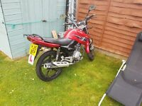 Honley HD-1 125cc Motorbike (Clone of Yamaha YBR-125) Red and Black FULL SERVICE HISTORY