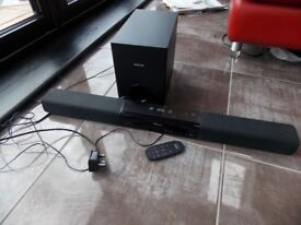 Phillips sound bar with sub woofer
