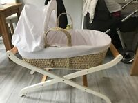 Moses basket and luxury stand