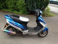 Pulse Scout 49 50cc moped. One owner and low mileage. Excellent condition with sports exhaust